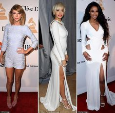 Strut it off! Taylor Swift, Rita Ora and Ciara make the Clive Davis pre-Grammys gala all about legs in show stopping ensembles.  If you have got it flaunt appears to be the dress code at the biggest pre-party of the awards season. Music\'s top names normally put on quite a show on stage at the annual Clive Davis pre-Grammys gala on Saturday night, but this year the show started early on the event\'s star-studded red carpet. As soon as the who\'s who of the music industry started arriving at…