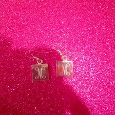 ‼️M earrings Painted on M monogram. Good condition but has the regular scratches like any silver ! ‼️will bundle this item with other items with ‼️ for a better price than seller discount! J. Crew Jewelry Earrings