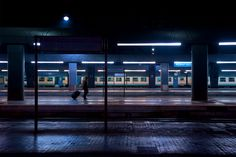 Atmospheres by Luca Orsi | The Photographic Journal -- We took the overnight bus from Prague to Munich and this pic reminds me of what the Munich station looked like when we got there very early in the AM