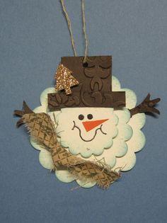 Krafting with Karen: Scallop Circle Snowman Tag