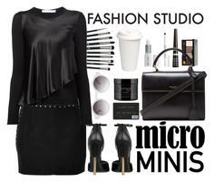 """""""Micro Minis"""" by crblackflag ❤ liked on Polyvore featuring Faith Connexion, Revolution, Lord & Berry, Givenchy, Bobbi Brown Cosmetics, Rimmel, Yves Saint Laurent, Monki, philosophy and allblack"""