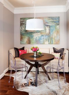 Eclectic Living Dining Room Small Layout Studio Apartment Ideas