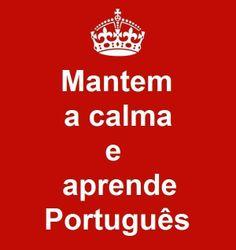 Mantem a calma e aprende Portugues