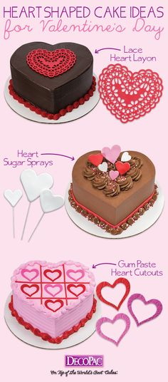 Heart throbbingly simple ways to decorate heart shaped cakes.