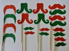 picwrap 20 Pc Mustache on a Stick Photo Booth Props Red and Green Xmas Glitter Foamy Mustache Bash Wedding Photo Booth Party Favor and Props Christmas Photo Booth Props, Photo Booth Party Props, Wedding Photo Booth, Christmas Games, Christmas Photos, Christmas Ornaments, Stick Photo, Glitter Photo, Glitter Wedding