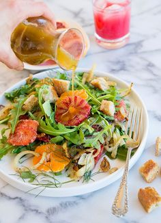 Wild Greens and Sardines : Blood Orange and Roasted Fennel Salad