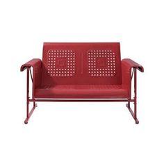 Danny Glider Loveseat in Red