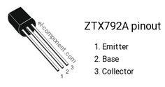 ZTX792A transistor pinout