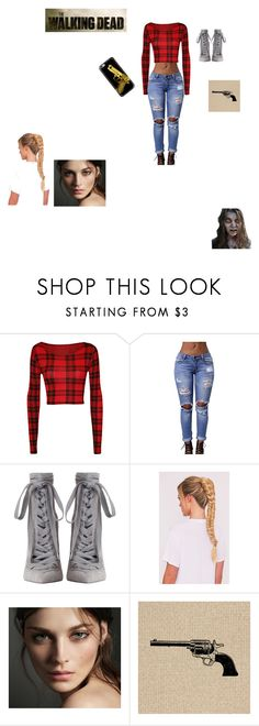 """""""They should put a woman like this on the walking dead"""" by allison-orth ❤ liked on Polyvore featuring WearAll, Zimmermann, Burberry and Casetify"""