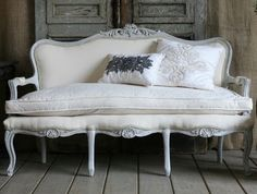 yellow antique sofa by jinifur on deviantart dusty old things rh pinterest com Elegant White Sofa vintage white wicker sofa