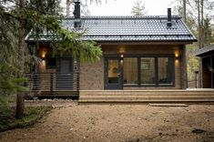 Honka log home and cabin kits are the perfect choice when you're looking for an easy and effective way to build a healthy and ecological log home. Wooden House Plans, Modern Wooden House, Small Wooden House, Cabin Homes, Log Homes, Weekend House, Tiny House Design, Wooden House Design, House In The Woods