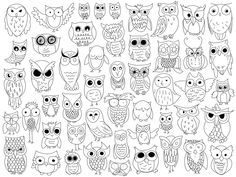 Owl Doodles by The Crafty Frugaler Owl Doodle, Doodle Art, Colouring Pages, Coloring Books, Doodles, Pet Rocks, Owl Art, Doodle Drawings, Art Lessons