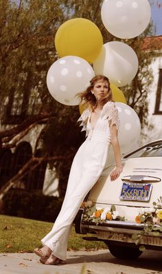 wedding jumpsuit with crochet cap sleeves by Stone Cold Fox for Free People #wedding #jumpsuit