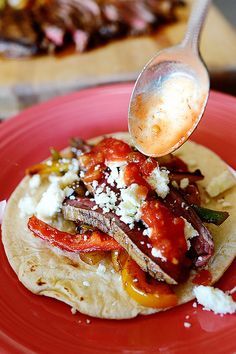 Beef(or chicken) Fajitas (with amazing marinade) by Ree Drummond / The Pioneer Woman