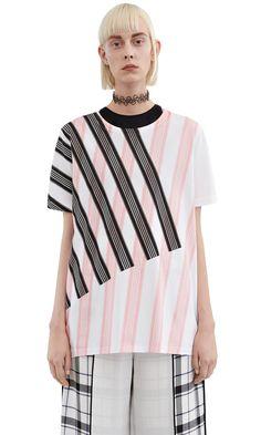 Acne Studios Vista boyfriend fit t-shirt with an all over stripe print #AcneStudios #Resort2016