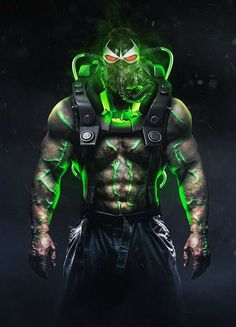 Known for his mix of brute strength and exceptional intelligence, Bane is often credited as being the only villain to have broken Batman. Bane Batman, Batman Arkham, Superman, Marvel Dc Comics, Dc Comics Art, Marvel Vs, Batman Universe, Comics Universe, Batman Artwork