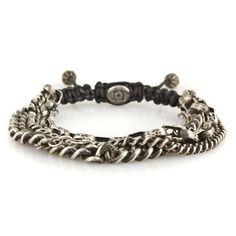 M.Cohen for John Varvatos 4 Multi Strand Silver Link Bracelet from M. Cohen Designs