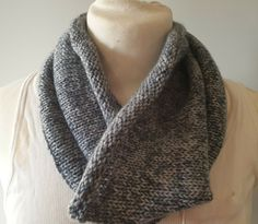 Hand-knitted cowl for men in blue/grey pure wool My Ebay, Hand Knitting, Blue Grey, Cowl, Pure Products, Accessories, Fashion, Moda, Fashion Styles