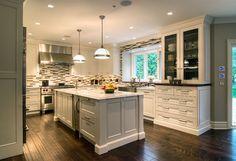 Kitchen Windows Over Sink | Traditional-Meets-Modern Kitchen | New American Luxury