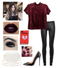 """""""Untitled #433"""" by lexi124 ❤ liked on Polyvore featuring Rick Owens, Christian Louboutin, Charlotte Russe and Too Faced Cosmetics"""