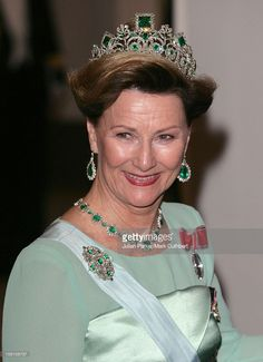 Queen Sonja Of Norway Attends King Carl Gustaf Of Sweden'S 60Th Birthday Celebrations.Gala Dinner At The Royal Palace, Stockholm. (Photo by Mark Cuthbert/UK Press via Getty Images)