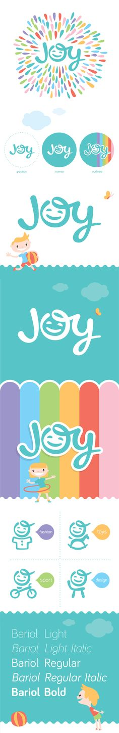 Logo and brading design for Kid's brand 'Joy'