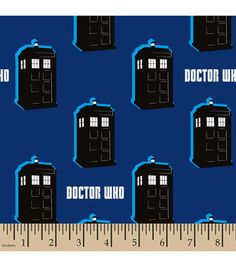 Doctor Who Tardis Flannel Fabric