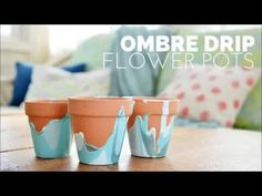 OMBRE DRIP FLOWER POTS - Mad in Crafts