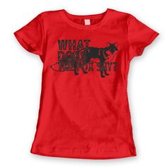 WHAT Does The FOX SAY  funny party music video by HumorApparel, $12.90