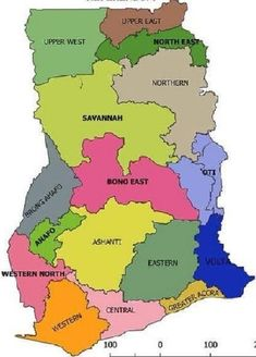 Ghana Regions map updated after new regions created). Ghanaian Names, Game Of Thrones History, Ghana Empire, History Of Ghana, Secure Digital, European History, Black History, American History, Africa