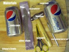jewelry out of soda cans