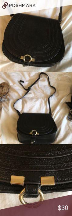 Black Crossbody Marci BAG Marcie Bag  Black / Gold Accents  Adjustable Strap  2 pockets on the interior and one zip pocket on outside. Wore this bag twice - it's in excellent condition. Bags Crossbody Bags