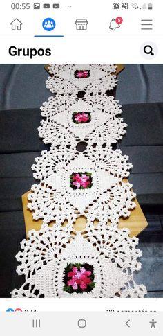 Crochet Bedspread, Crochet Doilies, Crochet Flowers, Crochet Stitches, Knit Crochet, Crochet Patterns, Herringbone Stitch Tutorial, Homemade Home Decor, Table Runners