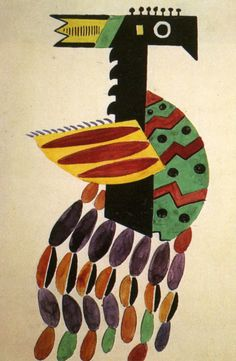 The Creation of the World Bird drawing of Costume, 1923, Fernand Léger