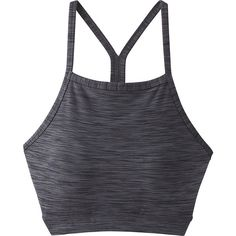 PrAna Alois Bralette - M - Charcoal - Women's Underwear (75 CAD) ❤ liked on Polyvore featuring black, striped jersey, prana and mesh jersey