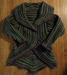 Knit, Swirl sweater knitted by Deborah Cooke