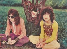 Early T. Rex, Marc Bolan and Steve Peregrine Took. Probably taken back in the days when they were still Tyrannosaurus Rex! #trex #marcbolan #steveperegrinetook