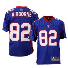 82d Airborne... Football Jersey - RED Military Branches 8f08f54e2