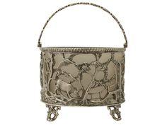 Antique Victorian Sterling Silver Sugar Basket