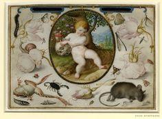 Joris Hoefnagel (and Jacob Hoefnagel), 1542-1601, Flemish, Allegory of Life and Death, 1598.  16.8 x 23.6 cm.  British Museum, London.  Northern Mannerism.