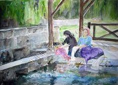lavoir peinture - Recherche Google Recherche Google, Painting, Art, Paint, Art Background, Painting Art, Kunst, Paintings, Gcse Art