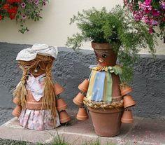 decoration-jardin-pot-fleur-figurine