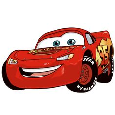 How to Draw Lightning McQueen in 7 Steps.... @ Cathy Poston-Glover, you think we can??? LOL