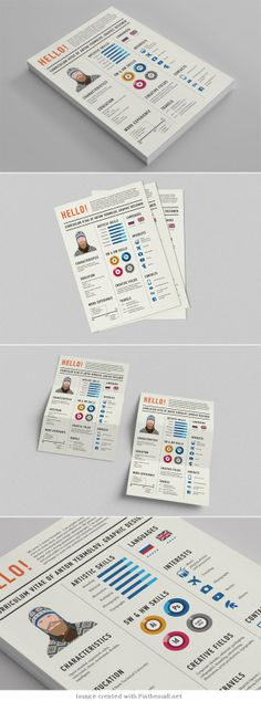 FREE Resume Template (3 page) on Behance My Design Pinterest - free resume fonts