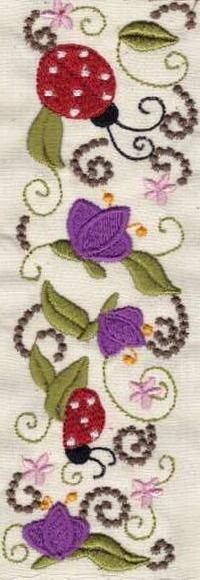 Bugs and Flower Borders - Embroidery