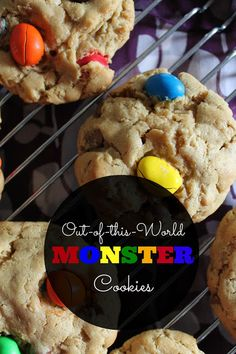 Out-of-this-World MONSTER Cookies I Ally's Sweet & Savory Eats