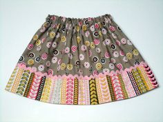 Girls skirt Custom Boutique  Daisy Cottage small by WendysWhimzies, $18.00