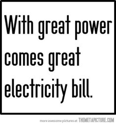 Great power…