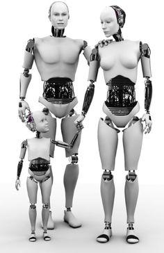 en el futuro habrá familias robots, que expresaran los mismos sentimientos que los seres humanos.