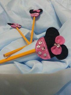 lápices decorados  fieltro,lápiz bordado a mano,pegado